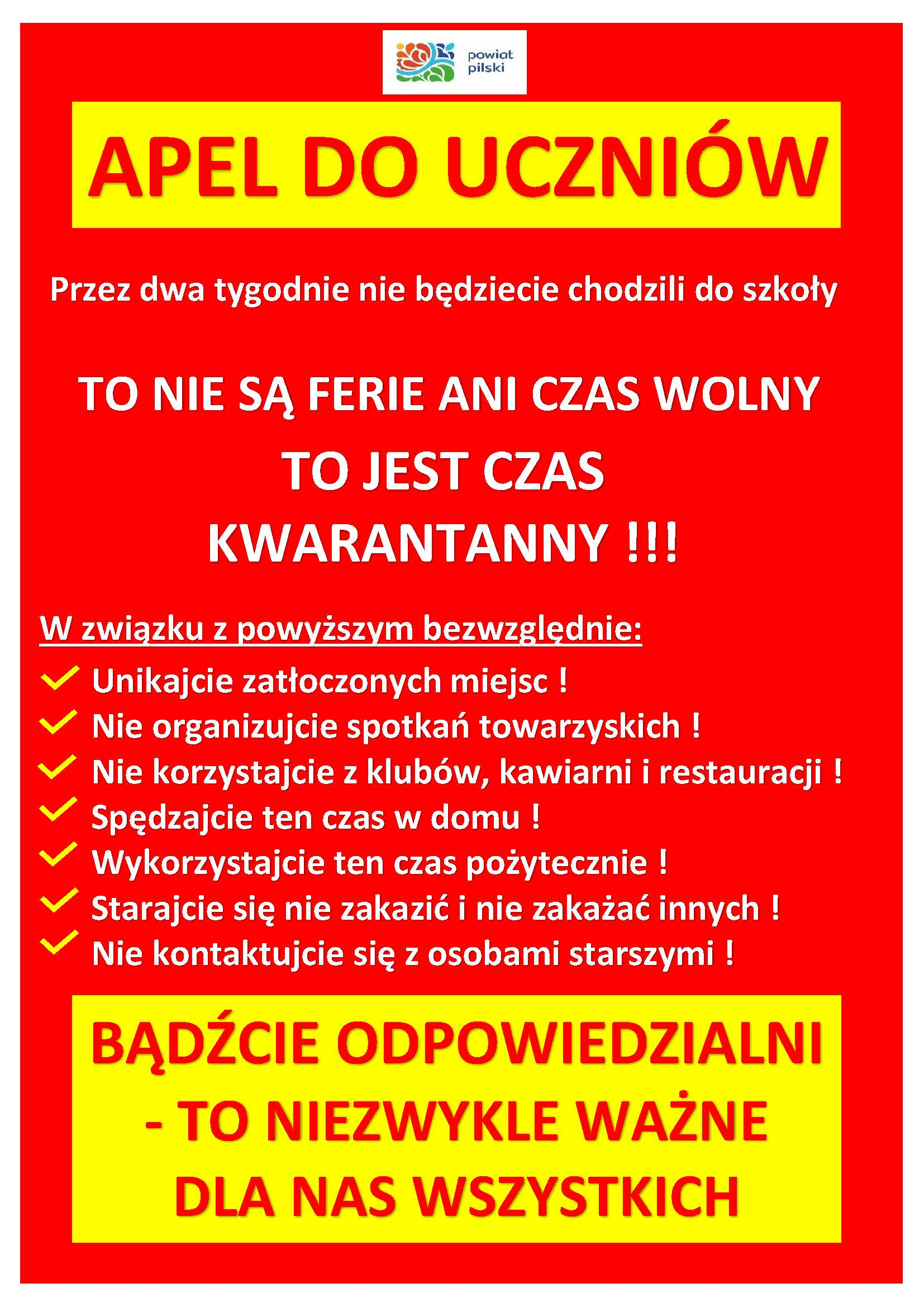 plakat uczniowie